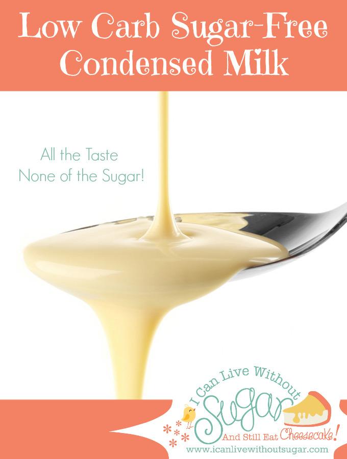 Low carb, sugar-free condensed milk on spoon