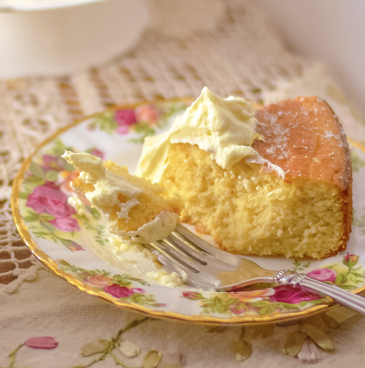 low carb sugar-free orange almond cake