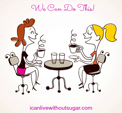 icanlivewithoutsugar shows two women sharing a coffee