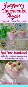 Raspberry Cheesecake Mousse low carb sugar-free keto