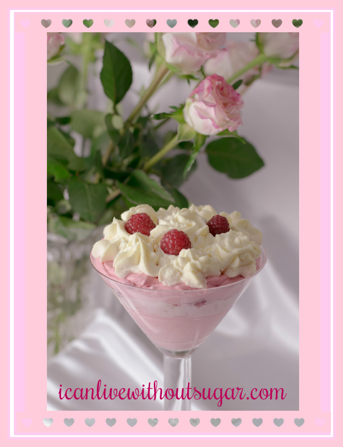 raspberry cheesecake mousse low carb sugar-free keto
