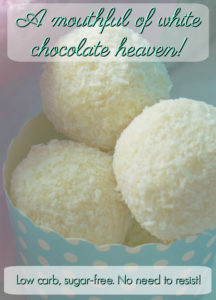 Low Carb Sugar-Free White Chocolate Truffles - A Mouthful of White Chocolate Heaven!